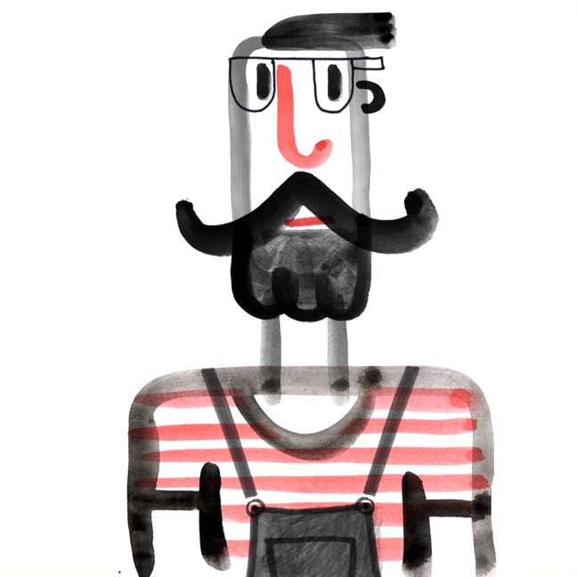 Dessin personnage | Hipster